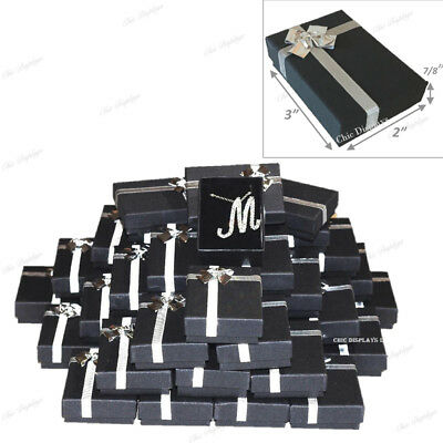 Lot Of (72) Black Bow-Tie Boxes Jewelry Boxes Danger Earring Boxes Pendant Box