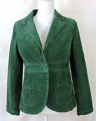 Old Navy Maternity Women Green Corduroy Jacket Blazer  Size S