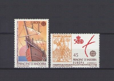 Spanish Andorra, Europa Cept 1992, Discovery Of America, Mnh