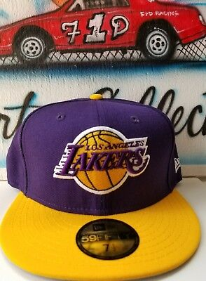 New Era NBA Los Angeles Lakers Fitted Hat 7 1/2