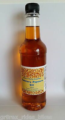 250ml Buttery Popcorn Oil, Avaliable in 500mls, 1ltr, 2ltrs, & 4ltr Bottles