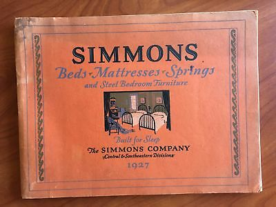 1927 SIMMONS Bed Mattress Bedroom Furniture Catalog Vintage Original Cribs HUGE