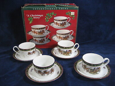4 Set International China Susan Winget A Christmas Story Coffee Mugs ...