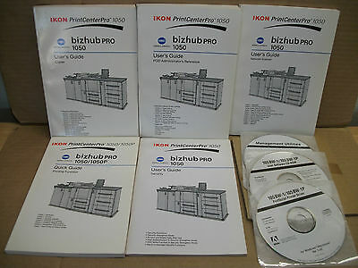Konica Minolta Bizhub PRO 1050 User's Guides-Manuals and Software-Driver Discs