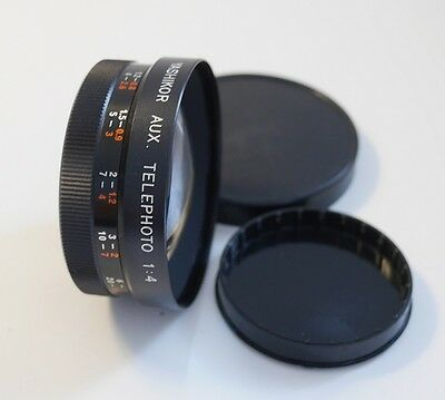 Yashikor Aux Telephoto 1:4 Lens Y304 To Fit 55Mm Filter Thread