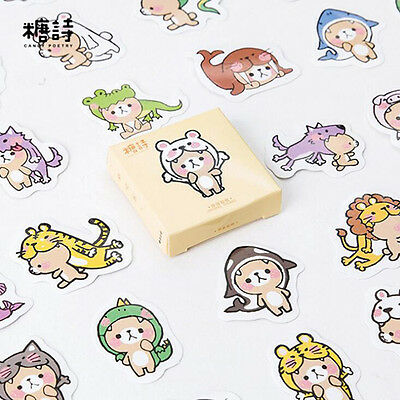 2X Kawaii Bear Stickers Notebook DIY Decor Letter Cover Label Student Stationery