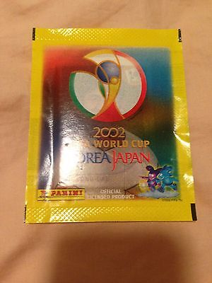1 New Sealed Pack Of Panini World Cup 2002 stickers (5 Stickers)