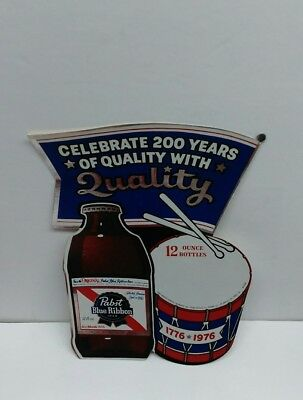 VINTAGE 1970's PABST BLUE RIBBON DECAL STICKER