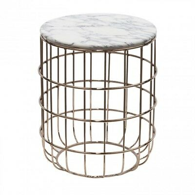 New Living Room Rodeo Side Table Made of steel frame & European marble top