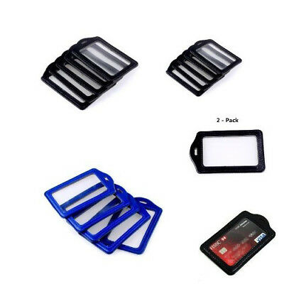 5 PCS Ostart Leather Faux Business ID Credit Card Badge Holder Pouch Case US