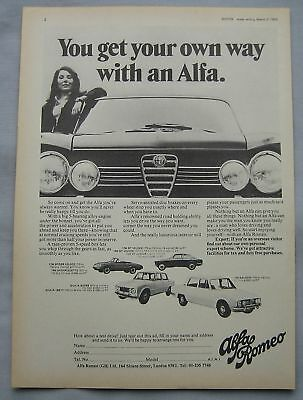 1968 Alfa Romeo Original advert