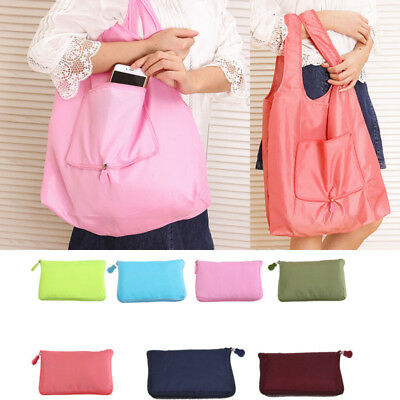 New Folding Tote Travel Storage Shoulder Shopping Bag Shopper Foldable Handbag