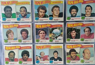 Topps 1974/75 NFL leaders & All-Pro football 18 card lot