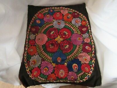 Wow! Vintage Hungarian Hand Embroidered Decorative Pillow Case Matyo Pattern