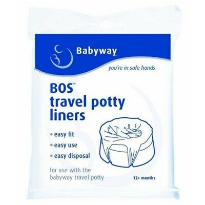 10 Babyway Travel Potty Liners - Pack