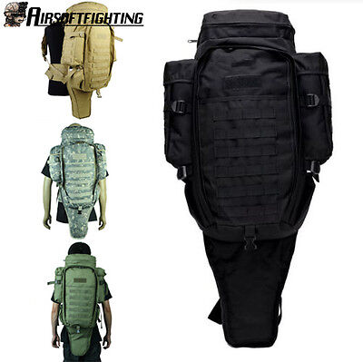 Military Tactical Molle Backpack Rifle Pouch Gun Carring Case Hunting Bag Packs