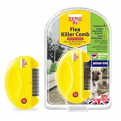 Flea Killer Comb For Cats & Dogs - Zero Poison Free Stv Kills Fleas