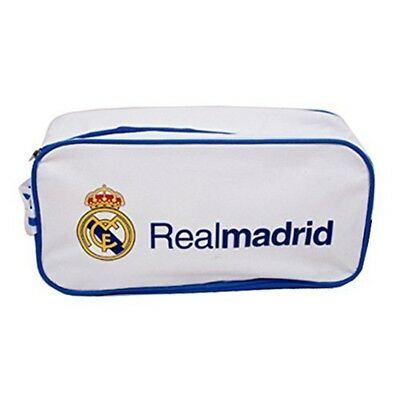 Real Madrid Crest Shoe Bag - Official Licensed Football Gym Product Boots Pe