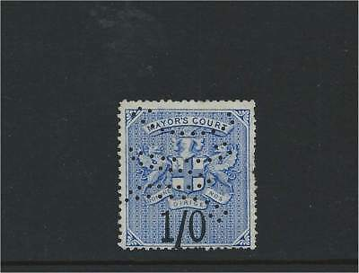 Mayor's Office 1/- Stamp with Fancy Perfin