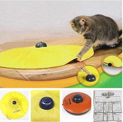 New Cat Toy Undercover Cats Meow Play Fabric Moving Mouse For Cat Kitty Funny UK