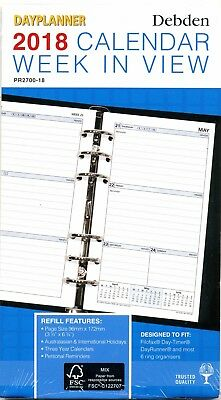 Collins Vanessa A4 Week To Open 2017/18Financial Yr Diary Free Postage Reduced