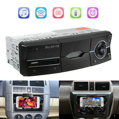 Bluetooth 1 DIN Car Stereo 12V FM Radio SD/USB/AUX Remote Head Unit MP3 Player