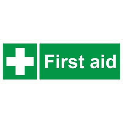 First Aid Self Adhesive Vinyl 300mm x 100mm - Castle Sign Promotions Ss017sa