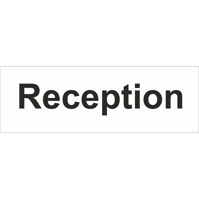 Reception Self Adhesive Vinyl 300mm x 100mm - Castle Sign Promotions Ss032sa
