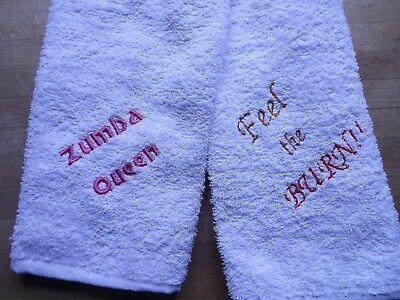Personalised GYM SWEAT TOWEL - any message you want!!
