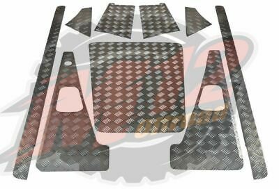 Rear Door Card 98 Onwards 2mm upto 2007 Chequer Plate Black Defender