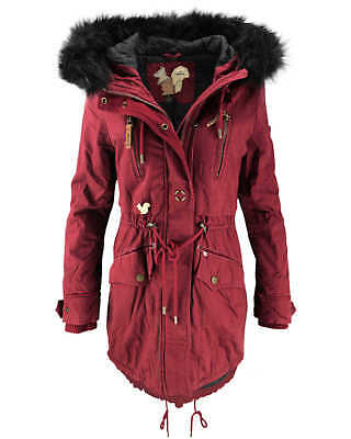 KHUJO DAMEN WINTERMANTEL Mantel Jacke FREJA Winter Parka