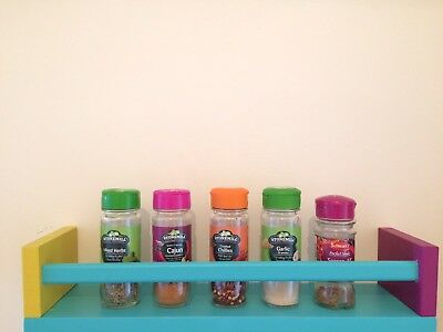 Wooden Painted Colourful Spice Rack