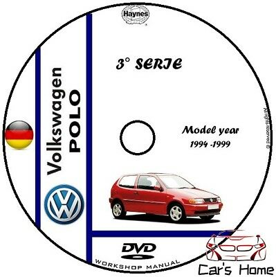 MANUALE OFFICINA VOLKSWAGEN POLO 3° SERIE my 94-99 WORKSHOP MANUAL DVD