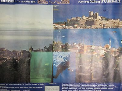 Orig TURKEY Travel Tourism Advertising Poster beautiful scenery attractions