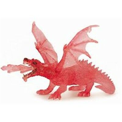 Papo Red Ruby Dragon Figurine - Figure 75 L x W Hand Painted 18cm Fantasy 36002