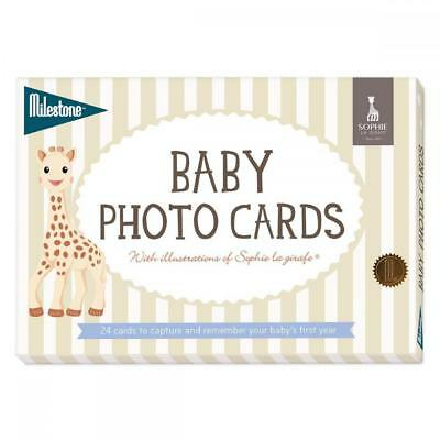 Sophie the Giraffe® Baby Cards by Milestone | Baby Photo Cards | 24 Pack