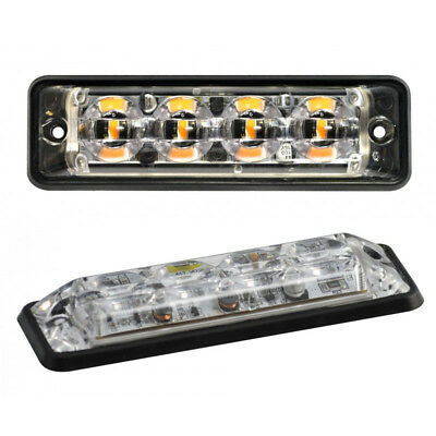 ELECTRAQUIP 4 MODULE LED AMBER FLASHING RECOVERY STROBE HAZARD GRILLE LIGHT//LAMP