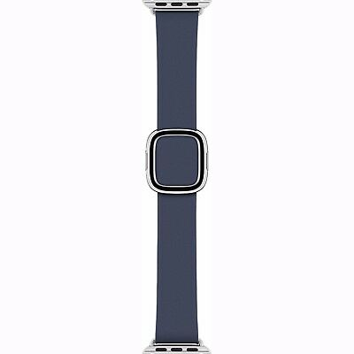 Genuine Apple 42mm Classic Buckle - Sea Blue Leather Watch Band - MNKW2AM/A