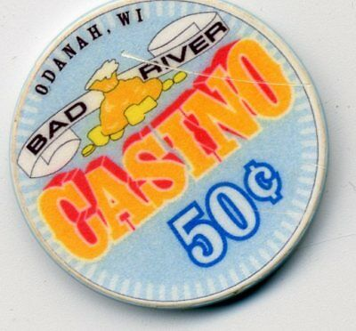 Bad River  50 Cent  Wi.  Casino Chip Odanah  Wisconsin