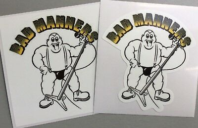 2 Unused Vinyl Stickers 2tone selecter iPad skinhead specials bad manners ska