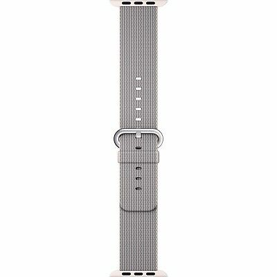 Genuine Apple Woven Nylon Band for Apple Watch 38mm (Pearl) - New Other!