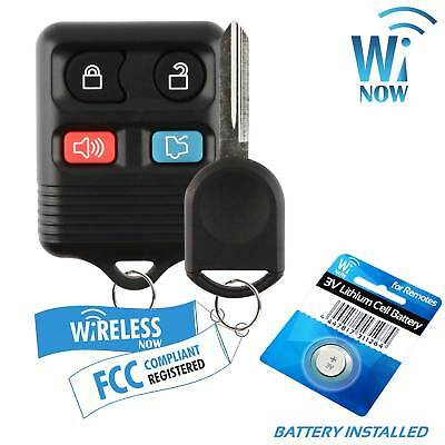Car Fob Keyless Entry Remote For 2010 2011 2012 2013 2014 Ford Mustang + Key