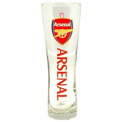 Official Arsenal F.C. Wordmark Slim Tall  Pint Glass Beer Glass