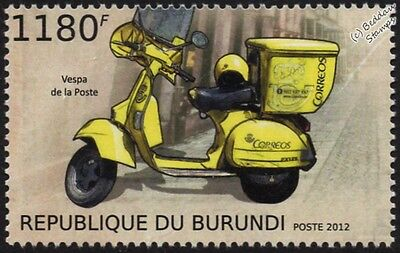 Correos VESPA PX 125 (Spanish Post Office Mail Scooter) Motorcycle Stamp