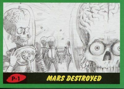Mars Attacks The Revenge 2017 Complete 55 Card Green Pencil Parallel Base Set