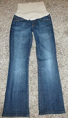 7 FOR ALL MANKiND Pea Pod Maternity Collection designer bootcut denim jeans 27 4