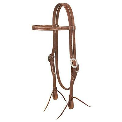 Weaver Leather Protack Oiled Browband Headstall, 5/8-Inch, Brown