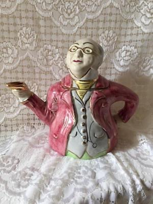 Vintage Tea Pot Mr Pickwick Proposes a Toast 1930s Made in England