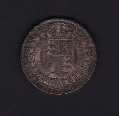 1890 Great Britain UK George V Half Crown Silver Coin