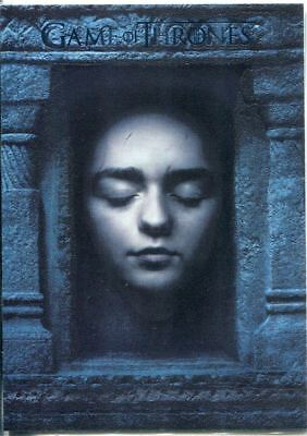 Game Of Thrones Season 6 Hall Of Faces Chase Card HF1 Arya Stark